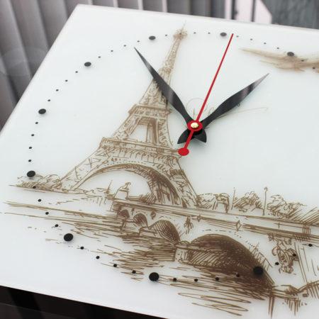 Часы: УФ-печать на сатине вид сбоку