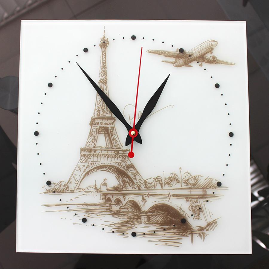 Часы: УФ-печать на сатине