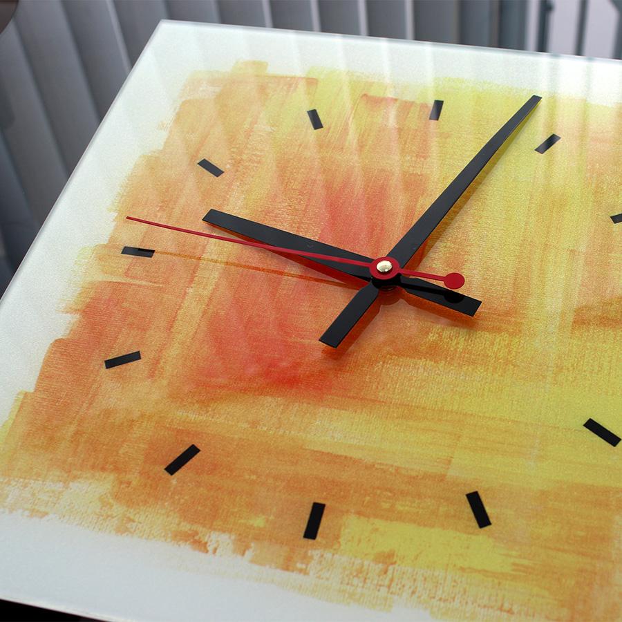 часы с фотопечатью квадратные