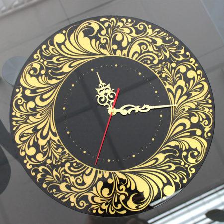 Часы с фотопечатью и перламутром