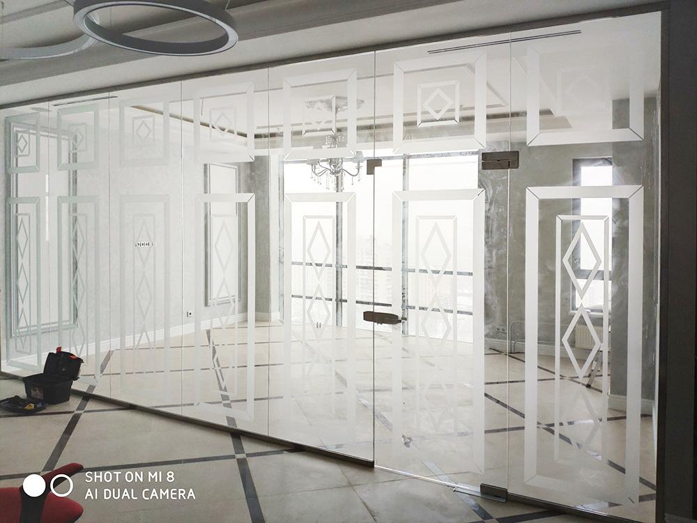 Перегородки из стекла