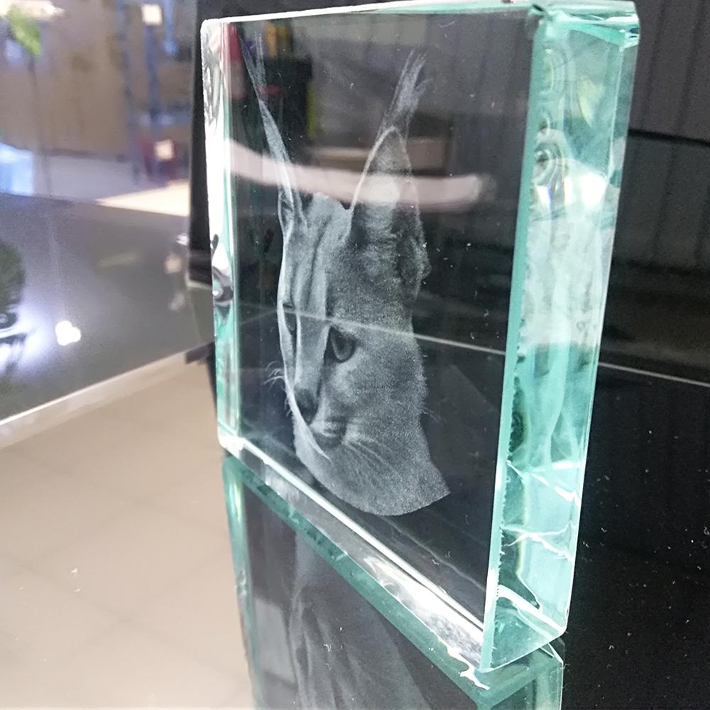 3Д-гравировка в стекле большого размера Пермь
