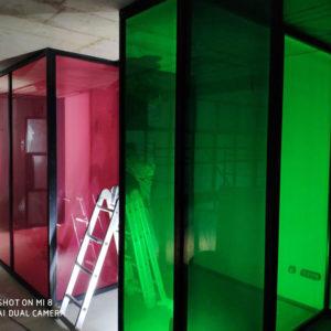 Стеклянные перегородки со стеклом триплекс