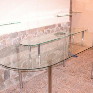 Стеклянные столы любой сложности