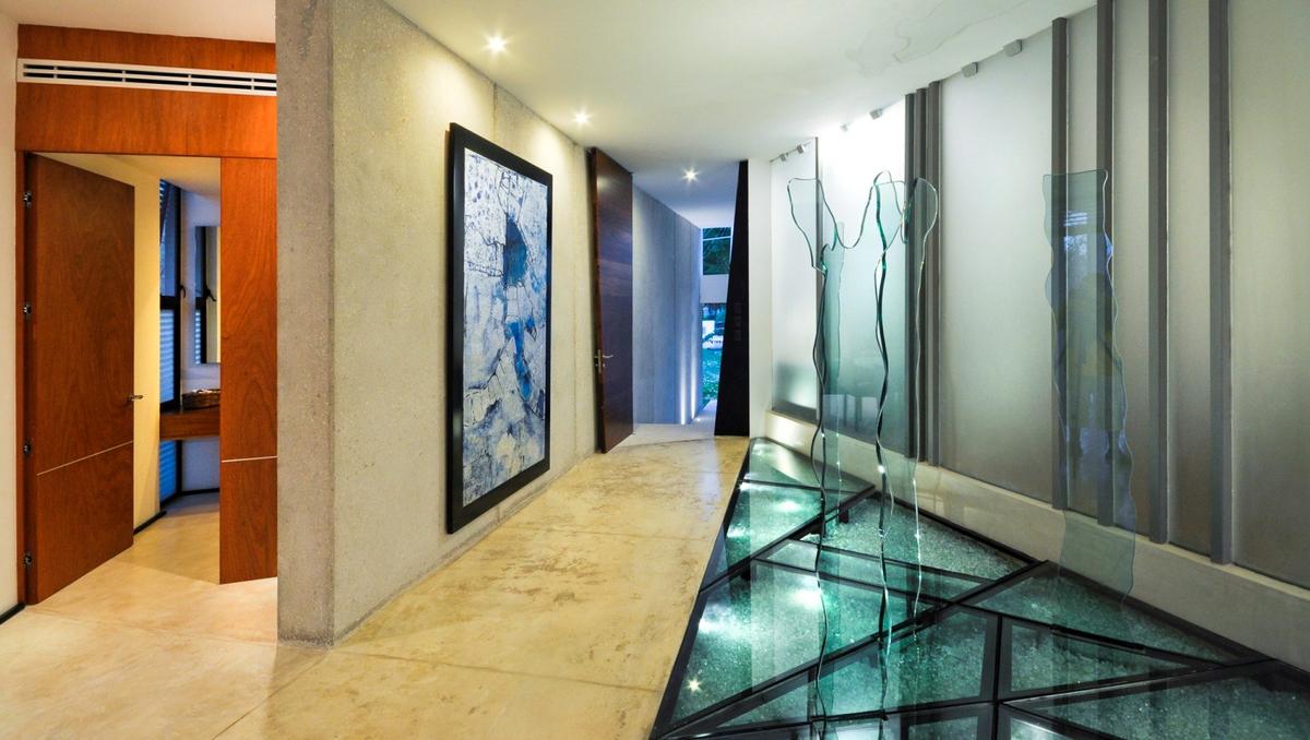 Дизайнерский стеклянный пол