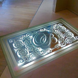Стеклянный пол с подсветкой 2