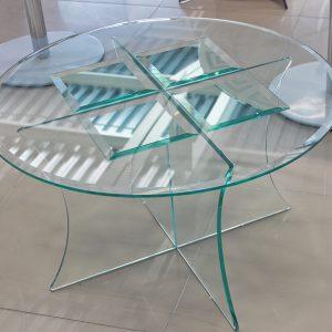 стол круглый стеклянный
